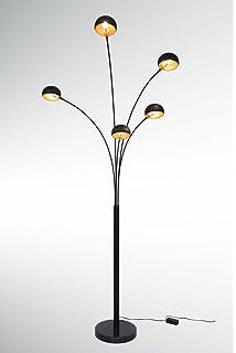 Grosse Five Fingers Bogenlampe Top Quality Mattschwarz Kupfer 225cm Hoch