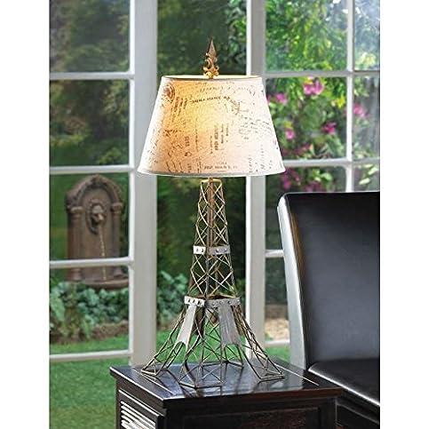 Produit Royal 27.5u201d Eiffel Tower Table Lamp Metal Wire Paris Shade Art Tall  Bed Desk
