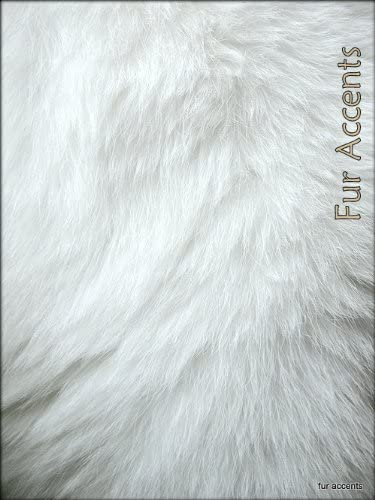 Fur Accents Shaggy White Faux Double Sheepskin Area Rug Ultra Suede Back 2 x6
