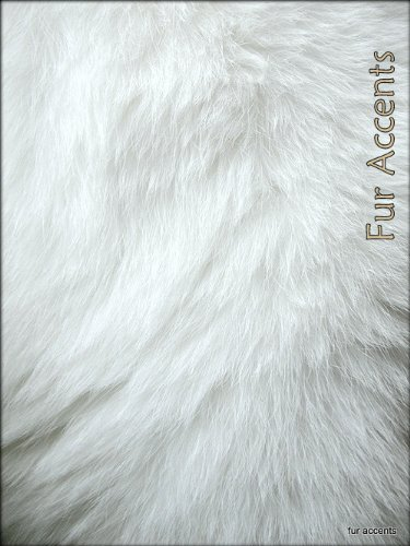 Fur Accents White Quatro Sheepskin Faux Fur Fake Wool Area Rug 3 X 5