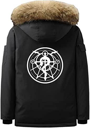 Gumstyle Anime Fullmetal Alchemist Parka Jacket Coat Men's ...