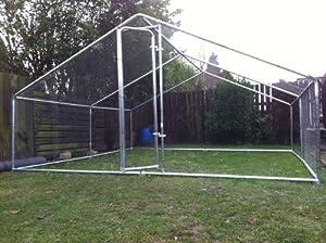 Chicken coop huge steel 4 x 4 metre fox proof robust walk for Maintenance free chicken coop