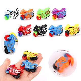Toys Pull Back Car 6 PCS Mini Motorcycle Toy Set Educational Preschool for Kids Children Party Favors Birthday Game Supplies (Random Color)