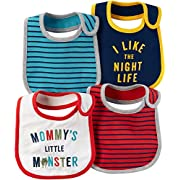 Carter's Baby Boys' 4-Pack Multi Striped Bibs One Size