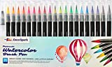 Watercolor Brush Pens Set Best Real Soft Brush Markers for Adult and Kids Coloring Books, Drawing, Calligraphy, Writing and More | Ultra Bright Pigment, Non-Toxic, Acid-Free | DecoSpark