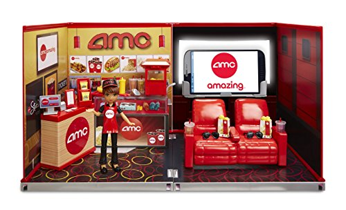 miWorld Deluxe Environment Set with Doll-AMC Movie Theater