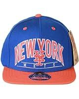 American Needle MLB Baseball New York Mets Two Tone Classic Snapback Hat Cap - Royal Orange