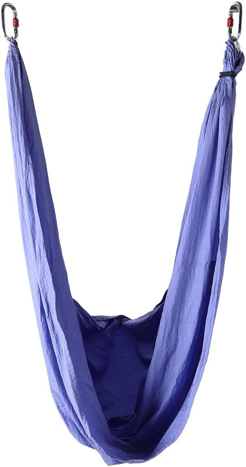 non Aerial Yoga Swing Set Flying Yoga Hammock Kit Anti-Gravity Fitness Hanging Grip Inversion Trapeze Sling for Improved Yoga Inversions Home Exercises