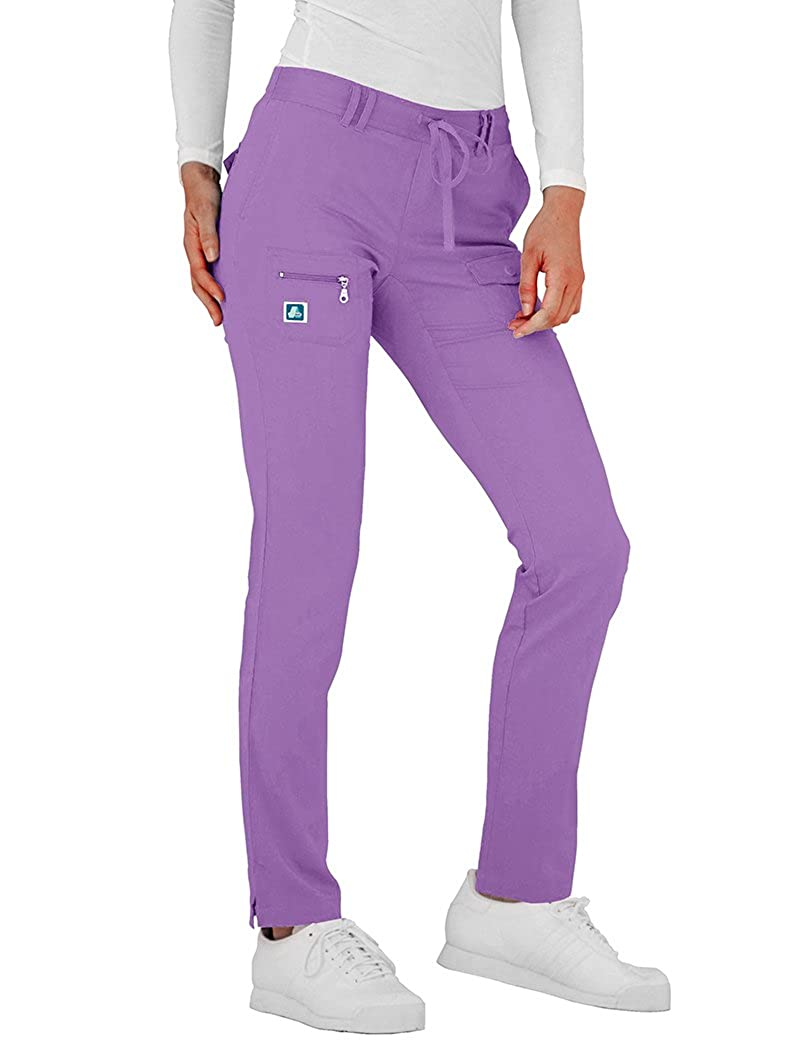 Adar Pantalones M/édicos Pantalones de Uniforme M/édico para Mujeres