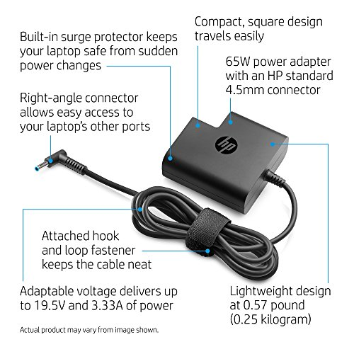 HP 65W Laptop Travel Power Adapter (4.5 millimeter connector) by HP (Image #3)