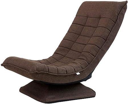MYYDD Creative Paresseux Sofa Fauteuil inclinable Chaise Confortable Tatami canapé Fauteuil pivotant Unique,Marron