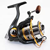 Wild.life® Fishing Reels Spinning Freshwater Saltwater with 11BB Gear Ratio Metal Body Left/right Interchangeable Collapsible Handle Spinning Fishing Reel 5000D
