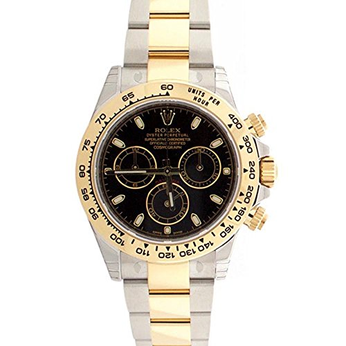 Rolex Cosmograph Daytona Black Dial Gold And Steel Men's Watch 116503