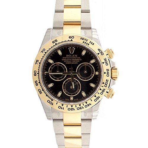 Rolex Cosmograph Daytona Black Dial Gold And Steel Men's Watch 116503