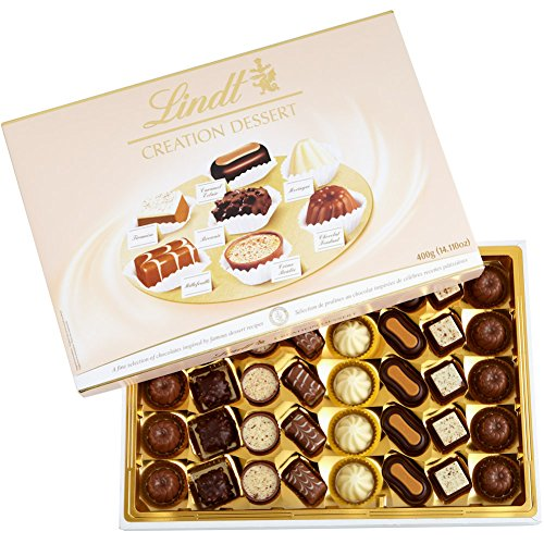 Lindt Creation Dessert, Assorted Chocolate Gift Box, 40 Pieces