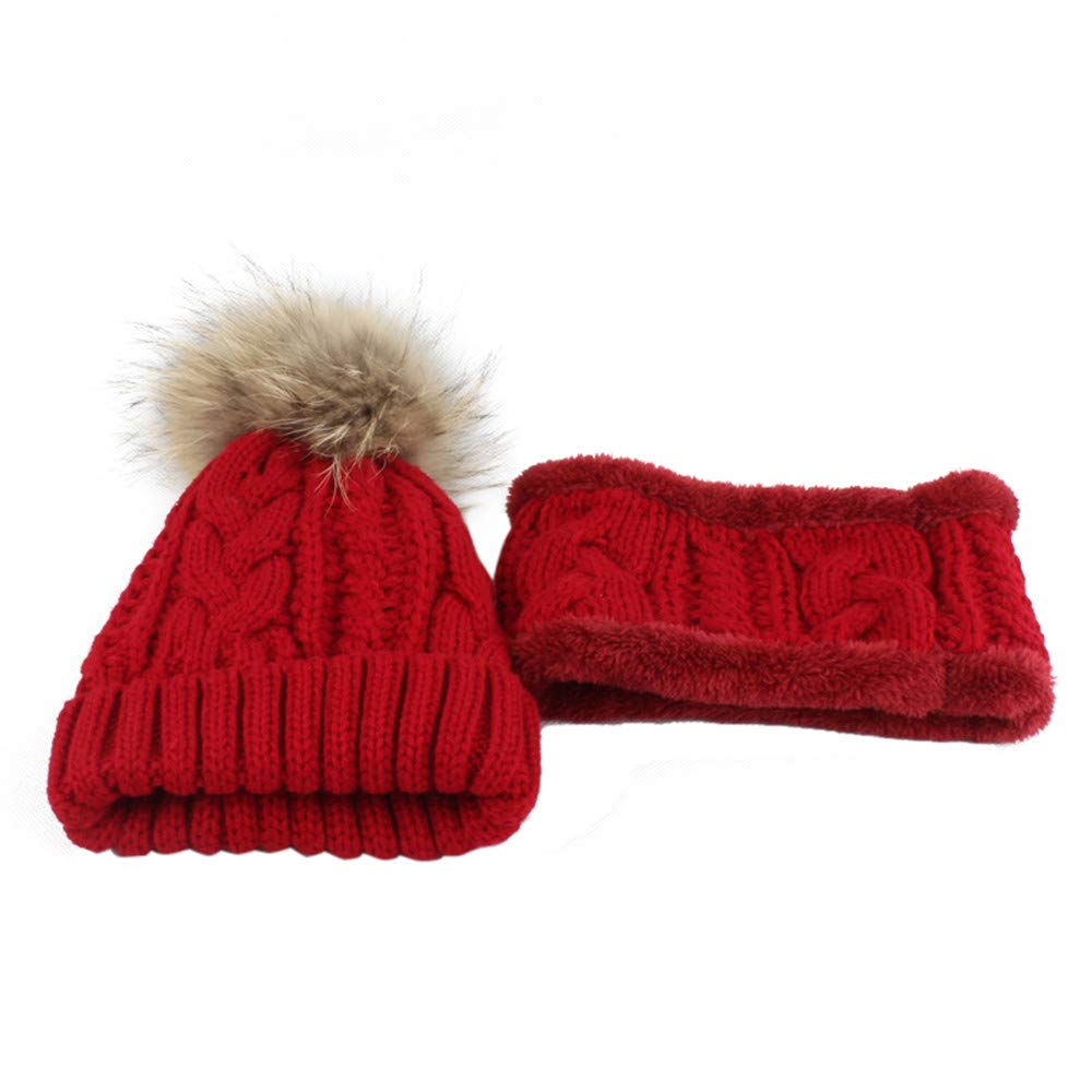 Perman Toddler Beanie Caps+Scarf 2PCS Winter Warm Knitted Crochet Hat + Scarves Perman-baby clothing PM-919