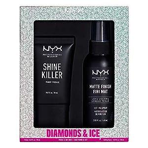NYX PROFESSIONAL MAKEUP Diamonds & Ice Prime And Set Duo Shine Killer Primer + Matte Finish Setting Spray