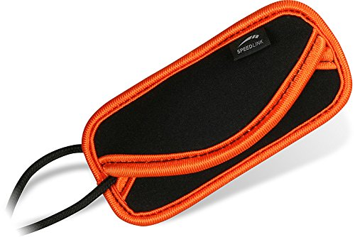Speedlink Case S Universal Bag for MP3 Players Such as The iPod Shuffle (7 x 4 x 0.5 cm Black/Orange