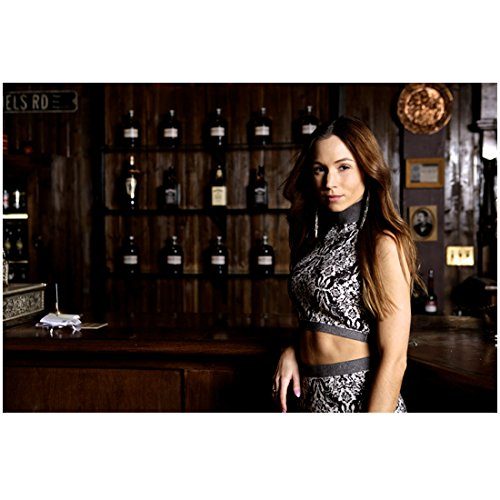 Melanie Scrofano as Wynonna Earp Posing by Counter Looking Beautiful 8 x 10 Inch Photo