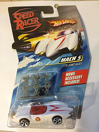 MACH 5 RACE CAR WITH JUMP JACKS Hot Wheels SPEED RACER 1:64 Scale Movie Vehicle ()