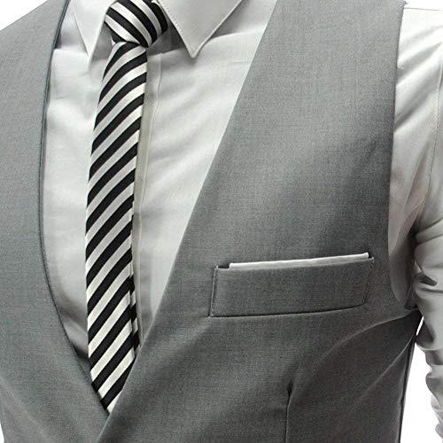 Uomo Casual Giacca Unita Taglie Formale Da Sleeveless Fit Con Comode Tinta A Tuta Scollo Grau Senza Abiti Monopetto V Vest Maniche Slim 4C5U0q