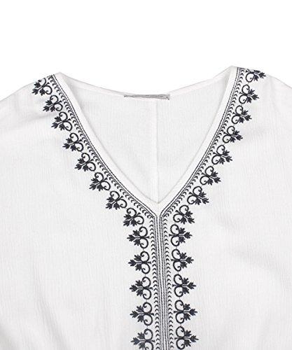 Glo-Story - Robe - Trapèze - Femme Blanc Blanc XL
