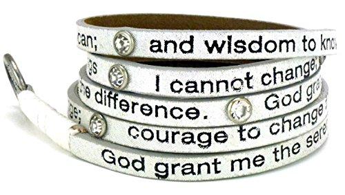 Serenity Prayer Around Leather Bracelet product image