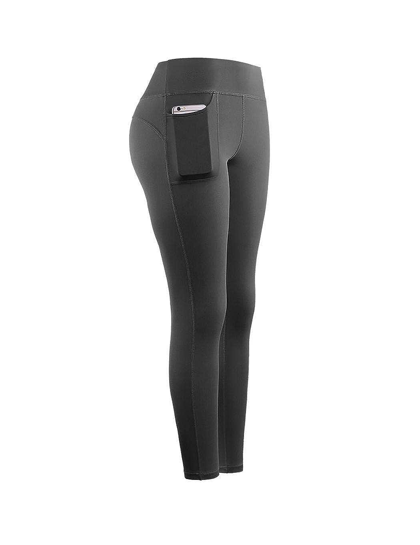 Ladiy Women Fashion Fitness Yoga Pants Pocket Stitching Elastic Bottoming Pants Active Leggings