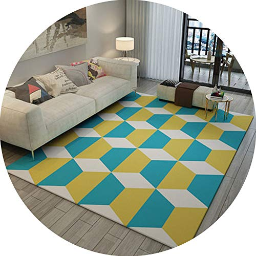 (Memory Foam Geometric Mat Area Rug Bedroom Rugs Carpet Doormat for Hallway Living Room Kitchen Floor Mats,T016,80X120CM)