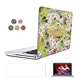 SUNKY MacBook New Pro 13 Case, Soft-Touch Series Plastic Hard Case Cover + Keyboard Skin + HD Screen Protector for Macbook Pro 13-inch 13'' 2016 Release Touch Bar (A1706 A1708) - Frog in Lotus
