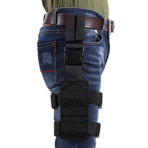 Molle Drop Leg - OneTigris Mini Tactical Molle Panel for Pistol Holster (Black)