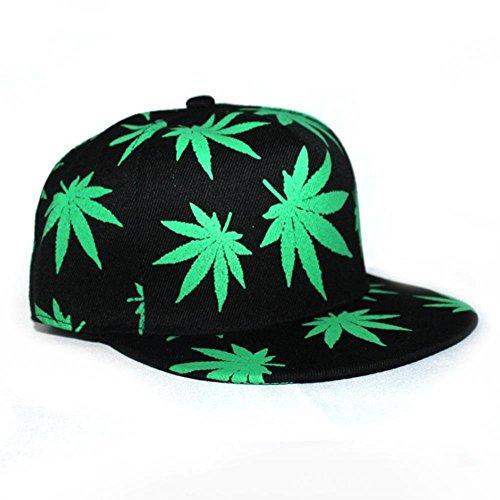 3224dad6564 Unisex Hip Hop Marijuana Weed Leaf Snapback Hat