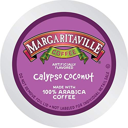 Margaritaville Coffee Medium Roast Brew Cups - Calypso Coconut Flavored Coffee for Single Serve Coffee Maker 36 ()