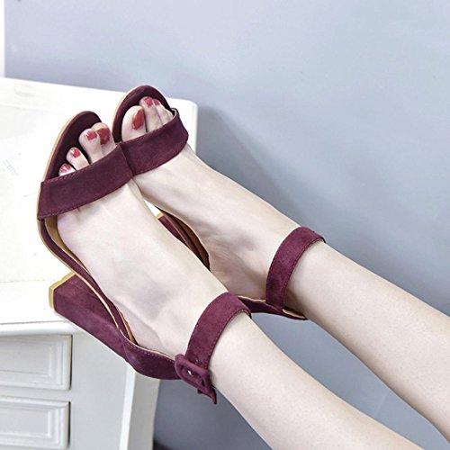 Sexy Plateau Zeppa Beautyjourney Vino Donna Elegant Alto Medio Tacco Estive Sandali Rosso Scarpe Eleganti Con Gioiello Cqq47P