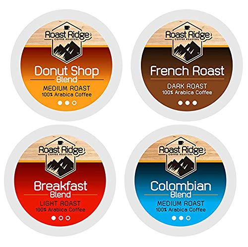 Roast Ridge Coffee Roasters Variety Pack Single Cup Coffee 100 Count Hot Beverage Cups, Compatible with Most Single-Serve Brewing Systems that Accept K-Cups, Including Keurig 2.0 (Best Single Serve Brewing System)
