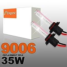 Engync® 35W 9006 Xenon HID Replacement Bulbs | HID Xenon Headlight Bulb Hi/Low Diamond White / Hyper White / Pure White Color (6000K)| 3 Years Warranty