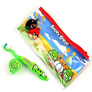Dr. Fresh Firefly Angry Birds Ziggly Brush Dental Travel Kit in Pouch with Cap (30321820)