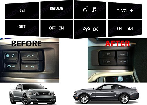 - Compatible withReplacement Steering Wheel Control Button Stickers for 2010-2012 Ford Mustang