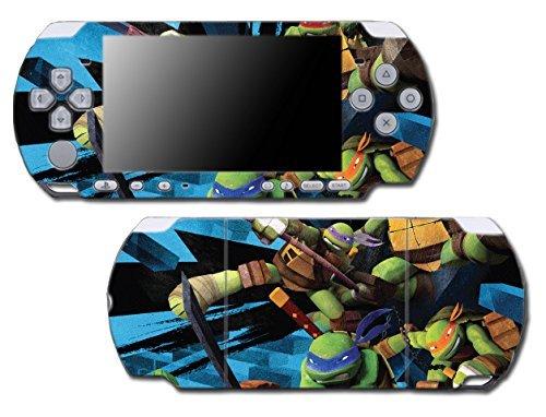 Teenage Mutant Ninja Turtles TMNT Leonardo Leo Shredder Cartoon Movie Video Game Vinyl Decal Skin Sticker Cover for Sony PSP Playstation Portable Slim 3000 Series System (Ninja Psp Games Turtles)