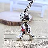London's 3D bear The bear hands foot rotate 360 degrees Charm Keyring key ring Creative key chain British tourist souvenirs Keychain key chain