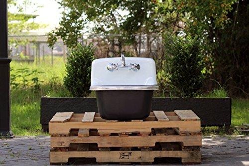 Antique Inspired Utility Sink Deep Basin Cast Iron Porcelain Farm Sink Matte (Vintage Porcelain Sink)