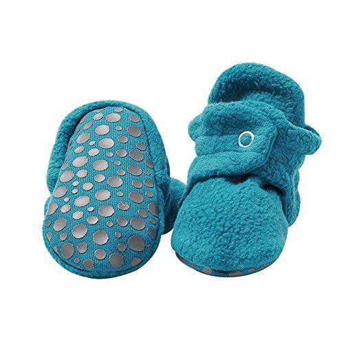 Zutano Cozie Fleece Baby Booties with Grippers 24M (18-24 Months), - Pagoda Design