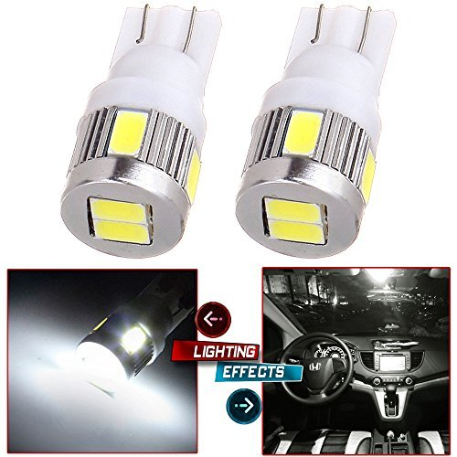 (cciyu 2pcs Pure White 6000k High Power T10 T15 921 168 LED Light Bub Replacement fit for Backup Reverse Light Lamps Parking License Plate Light)