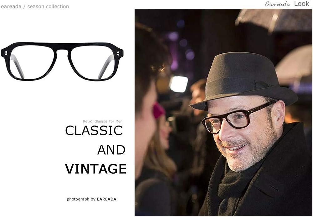 Kingsman2 The Golden Circle Aviator Vintage Acetate Frame Clear Lens Brand Glasses Eyeglasses Frame for Man