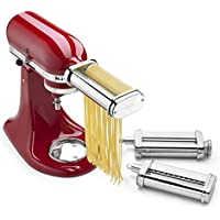 KitchenAid KSMPRA 3-Piece Pasta Roller & Cutter...