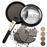 Eyebrow Powder Natural Soft Grey Water Resistant Brows Filler + Angled Brush