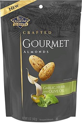 Blue Diamond Almonds Crafted Almonds Garlic,Herb & Olive Oil (1-BAG) (NET WT 5 OZ) from Blue Diamond Almonds
