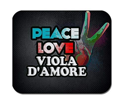 - Makoroni - Peace Love Viola D'Amore Music- Non-Slip Rubber Mousepad, Gaming Office Mousepad