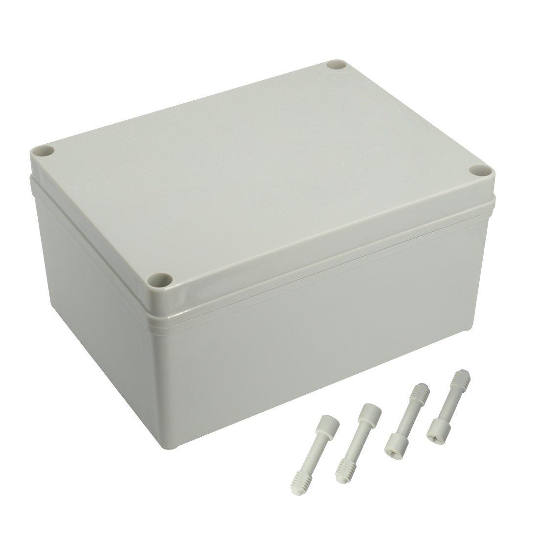 LeMotech Waterproof Dustproof IP67 Junction Box DIY Case Enclosure Gray 7.9'' x 5.9'' x 3.9'' (200mm x 150mm x 100mm)