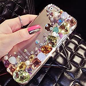 DD iPhone 6 compatible Diamond Look Jewel Covered Cases , Blue